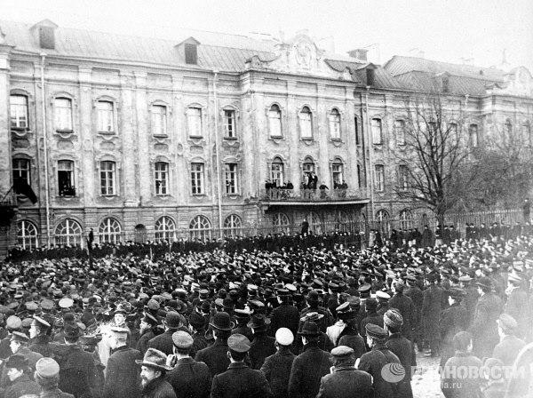 Митинг у СПБ ун-та 12.01.1905