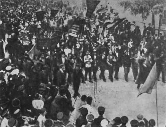 Демонстрация в Одессе 15 июня 1905 г.