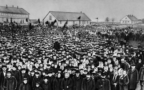 Митинг в Дундаге (Латвия).  март 1905