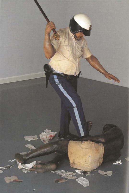 Duane HANSON. Policeman and Rioter. 1967