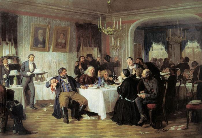 Фирс Журавлев.Купеческие поминки.1876