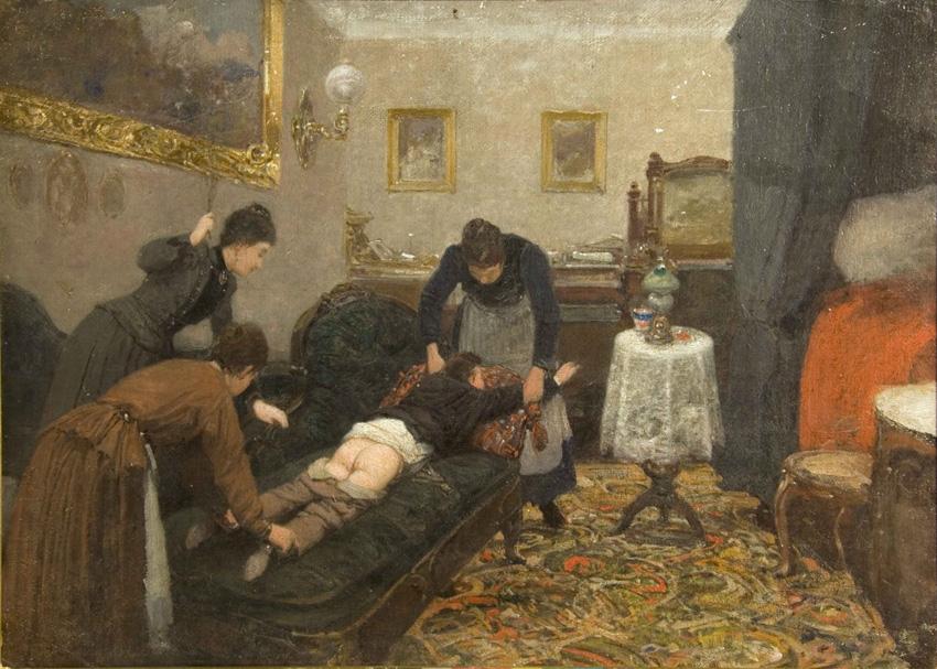 Павел Осипович Ковалевский. Порка. 1880 г.