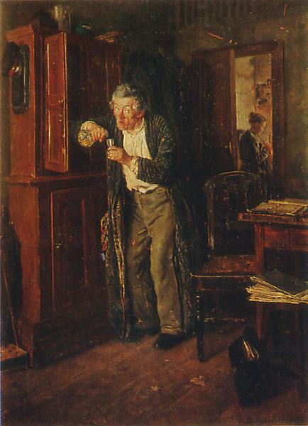 В. Маковский. Тихонько от жены. 1872
