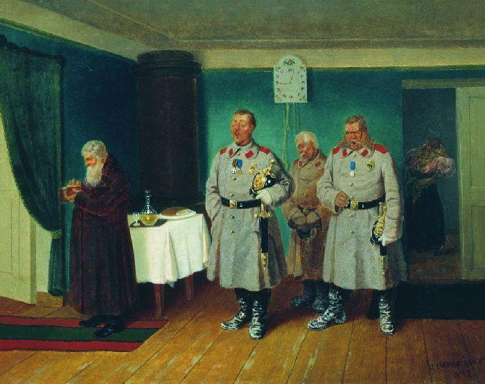 Л. Соломаткин Славильщики-городовые 1864