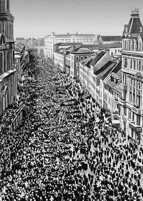 Демонстрация в Варшаве. Октябрь 1905
