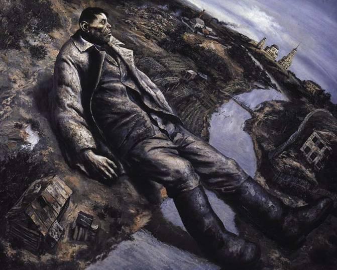 Василий Шульженко. Упавший. 1990