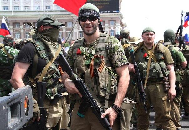 Николай Леонов в центре Донецка 25 мая 2014