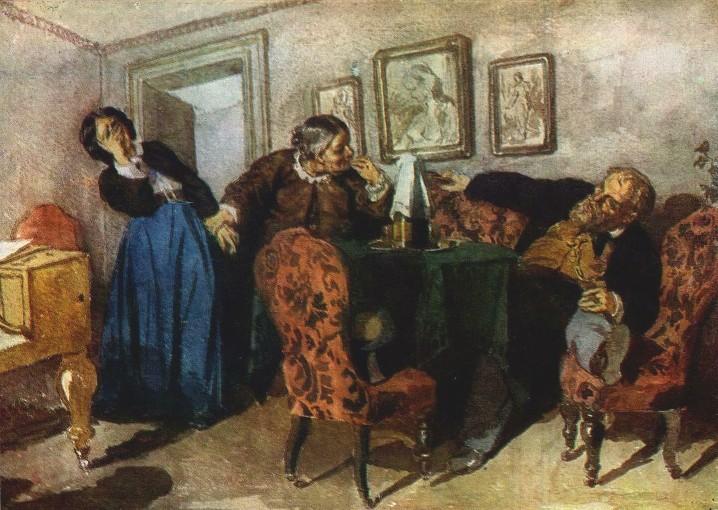 Н. Неврев. Купец-кутила. 1867