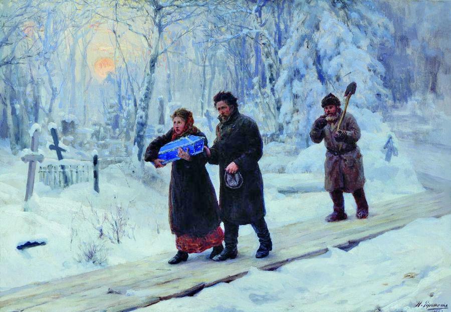 Ярошенко Николай. Похороны первенца. 1893