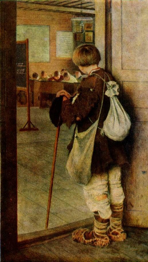 Николай Богданов-Бельский. У дверей школы 1897