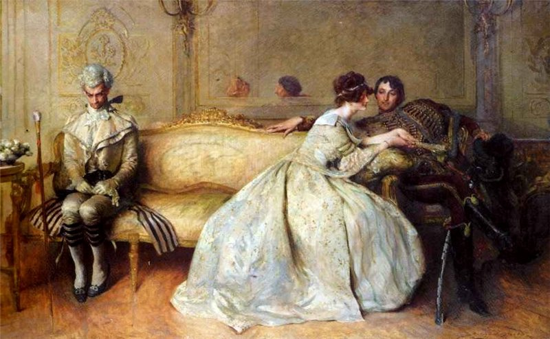 John Henry Frederick Bacon The Rivals (Соперники). 1904 г.
