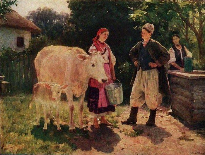 Николай Пимоненко. Соперницы. 1909