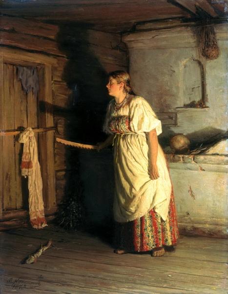 Василий Максимов. Кто там. 1879