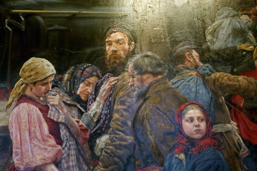 К.А.Савицкий. На войну. 1888 г. )фрагмент)