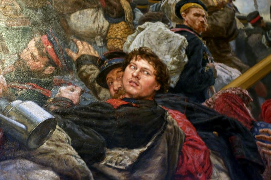 К.А.Савицкий. На войну. 1888 г. (фрагмент 2)