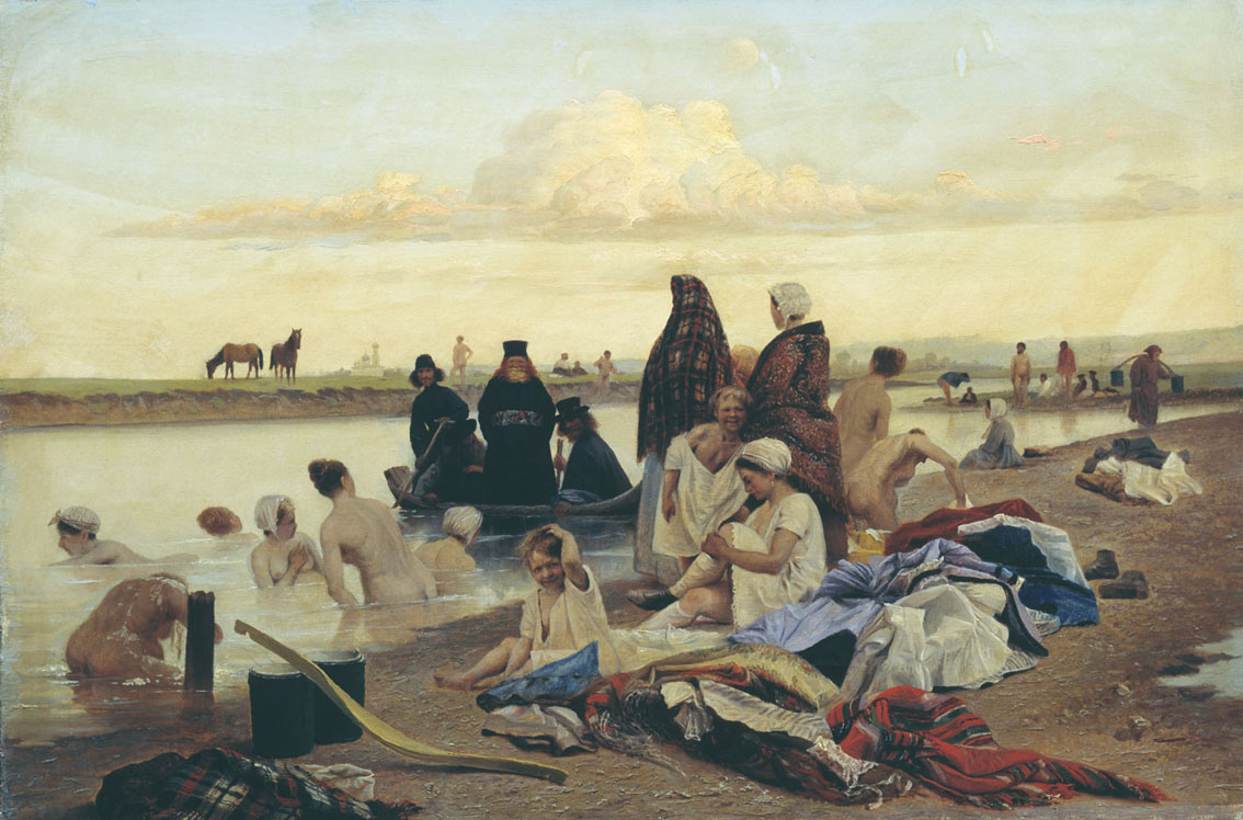 Лев Соловьев. Монахи (не туда заехали). 1870-е, музей г.Сумы