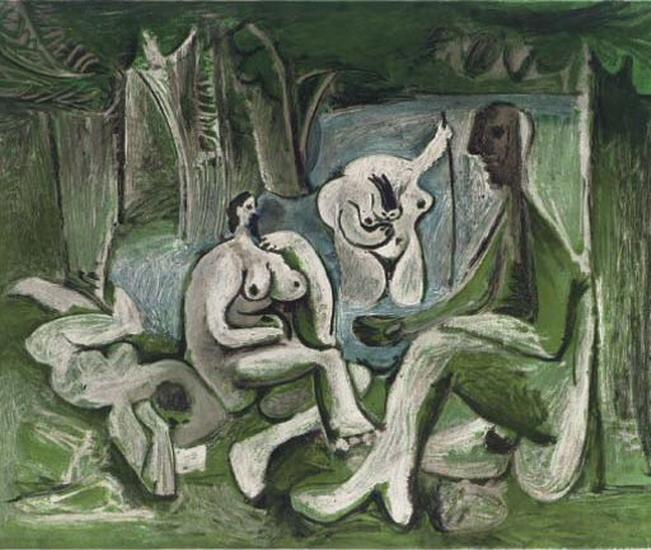 Pikasso. Le Dejeuner sur l'herbe (after Manet) 1960