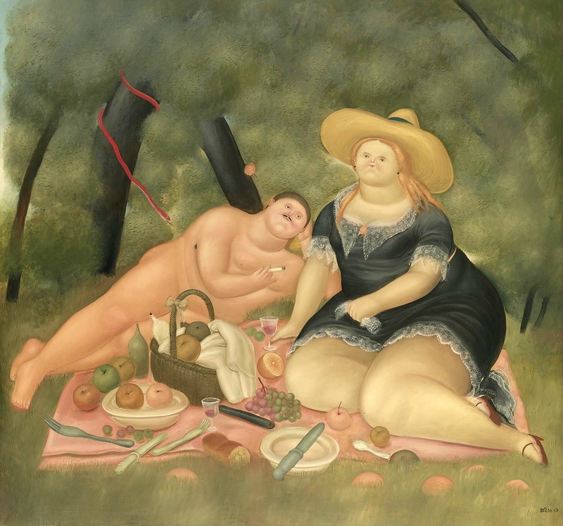 Фернандо Ботеро (Колумбия). Завтрак на траве. 1969