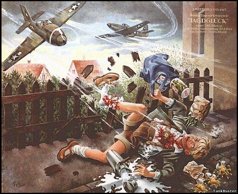 Нем плакат - бомбардировка