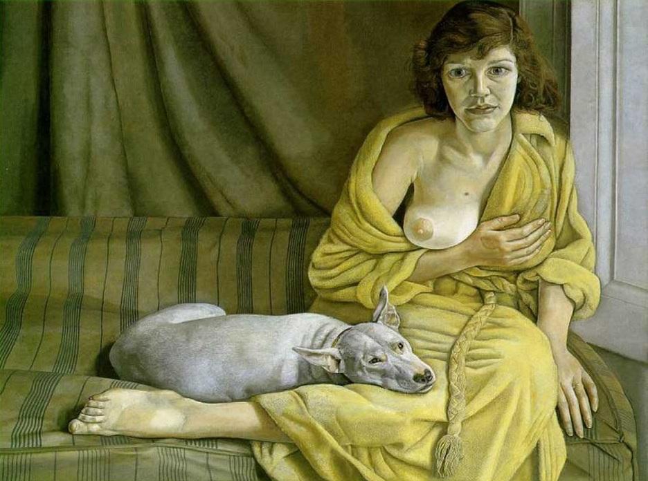Lucien-Freud-Girl-White-Dog