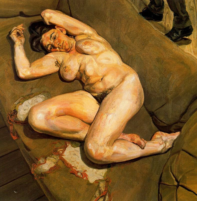 Naked portrait with reflection 1980
