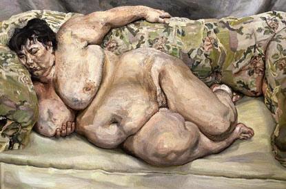 Люсьен Фрейд Спящая социальный инспектор, 1995