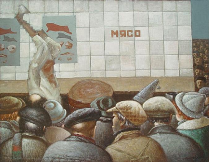 Василий Колотев. Разделка по отрубам. 1985 2