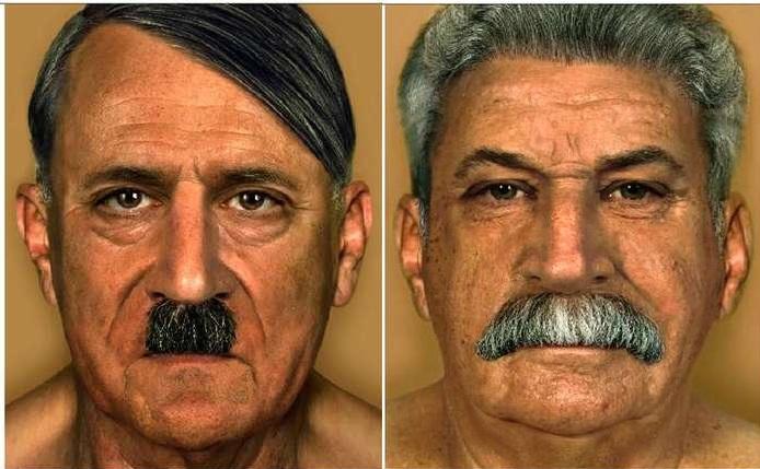 Hans Weishäupl  Hitler+Stalin