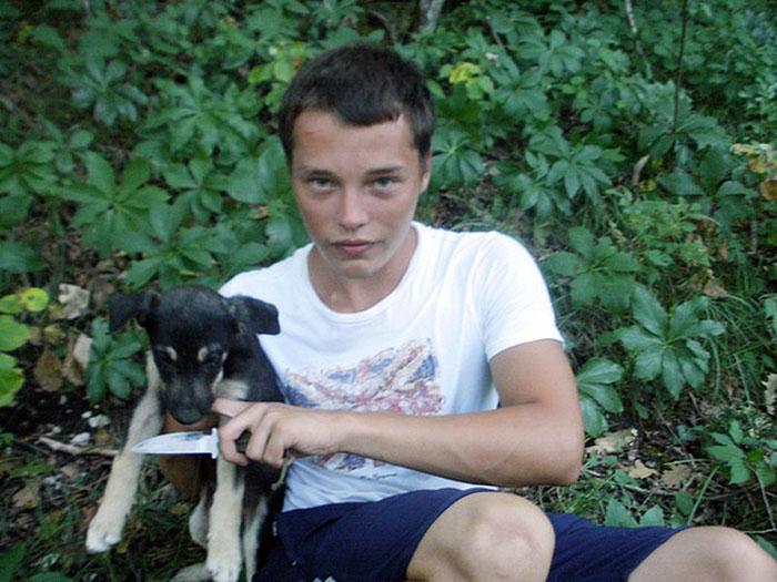 Мильчаков и щенок