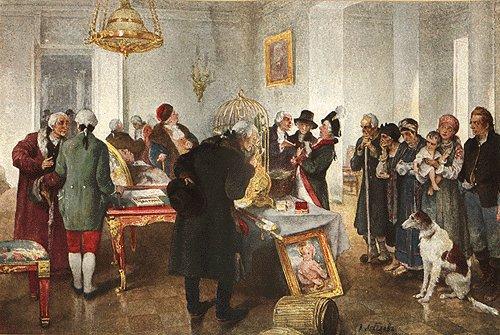 Клавдий Лебедев. Продажа крепостных с аукциона. 1910