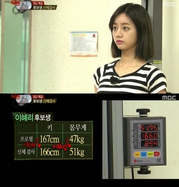 My gorl Hyeri's actual height and weight revealed in 'Real Men