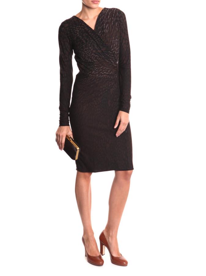 max-mara-brown-talamo-peacock-print-dress-product-2-2043344-353178459