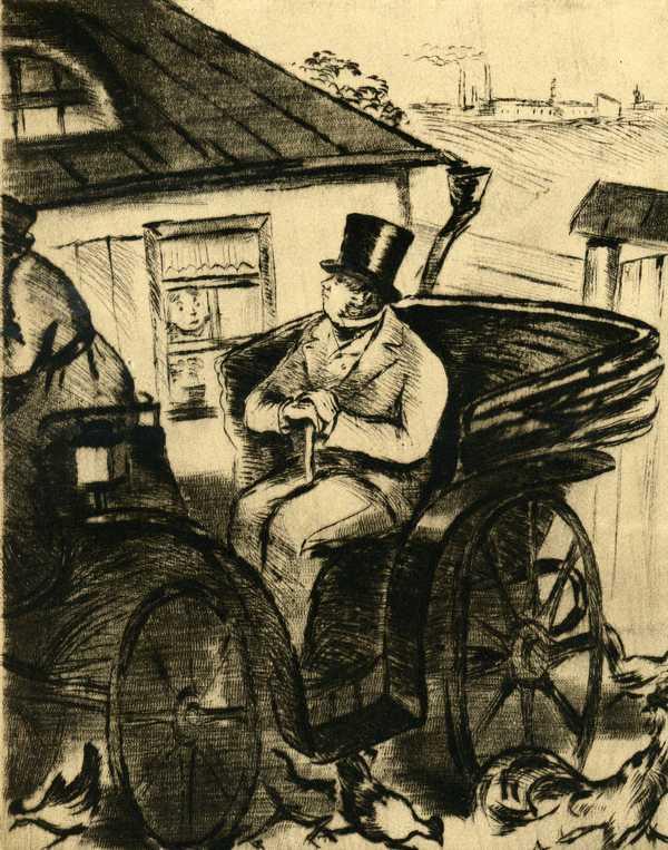 С.М.Шор. Обломов в коляске. 1936 г. УКМ