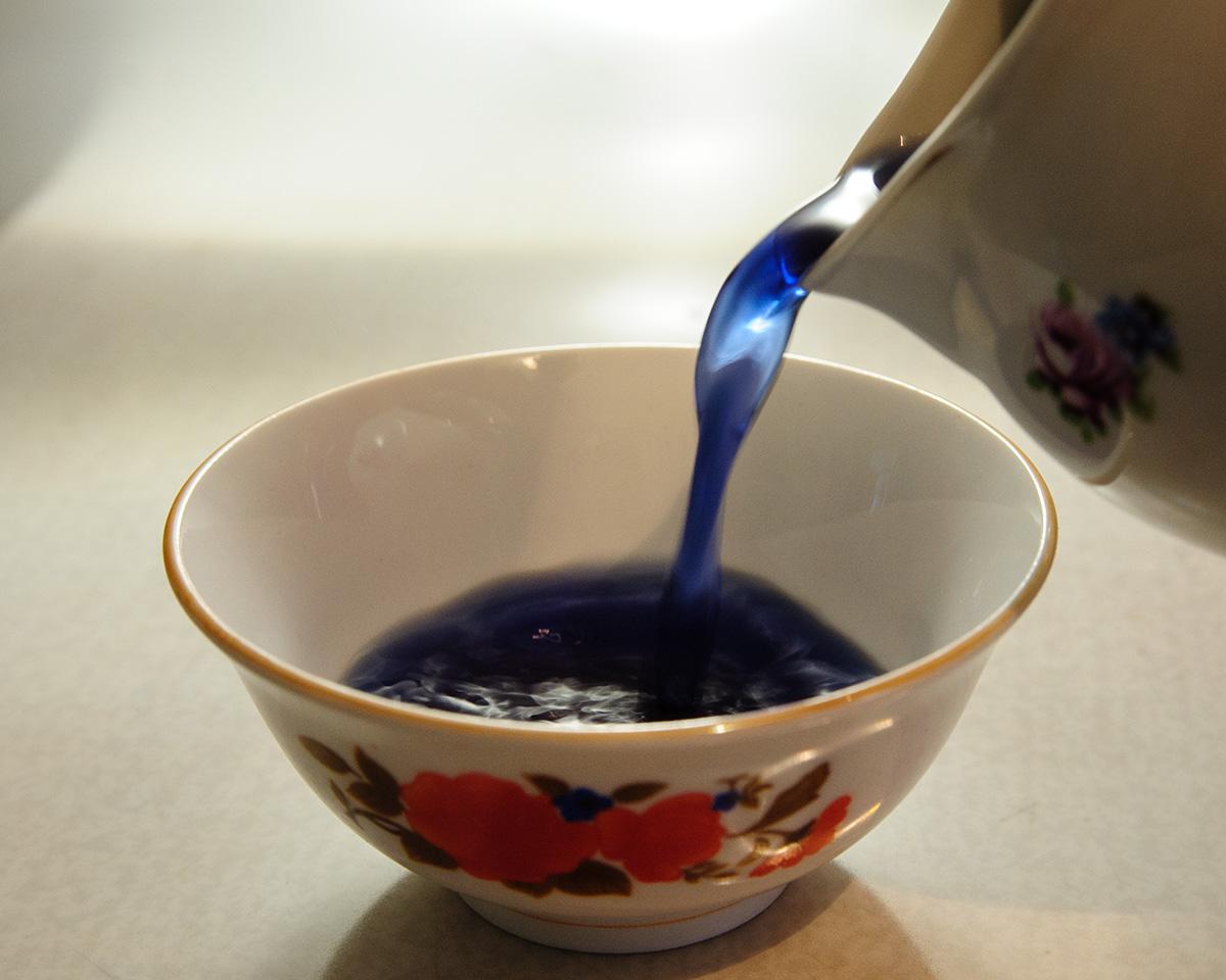 Анчан, синий чай