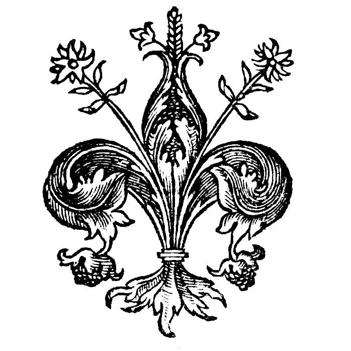 Геральдическая лилия. Флёр-де-лис. Королевская (бурбонская) лилия. Флорин