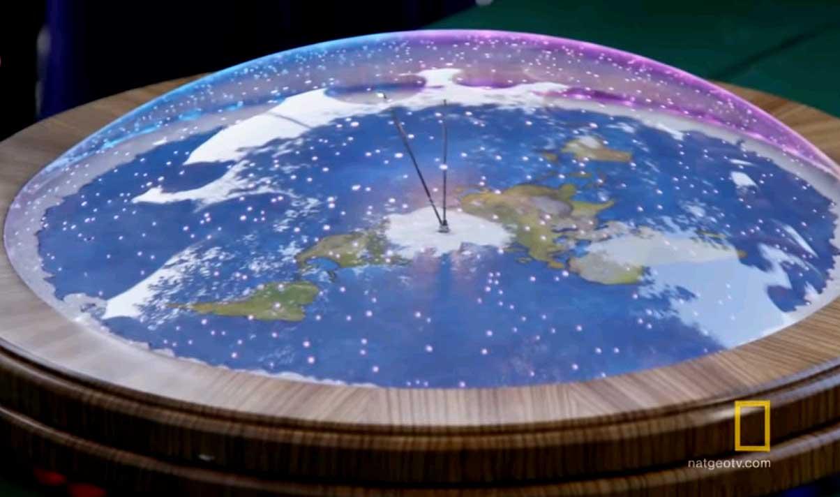 Плоская Земля. Северный Полюс (карта). Арктика