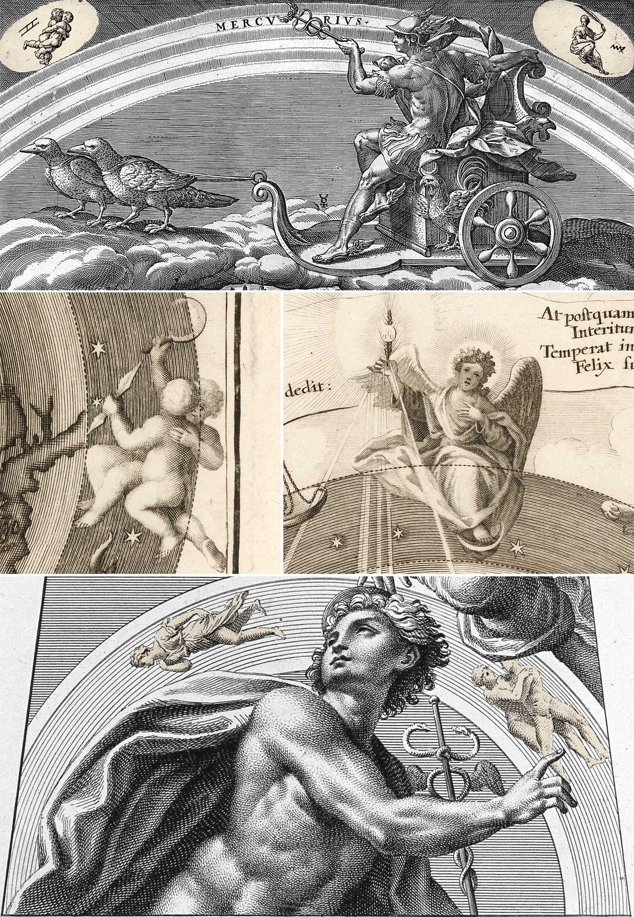Меркурий: Дева и Близнецы (знаки зодиака) к банкнотам. Mercury: Virgo and Gemeni