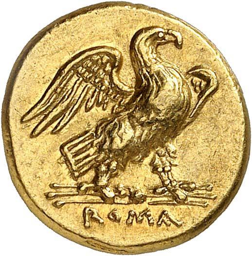 Аквила Юпитера с перунами Зевса (монета)