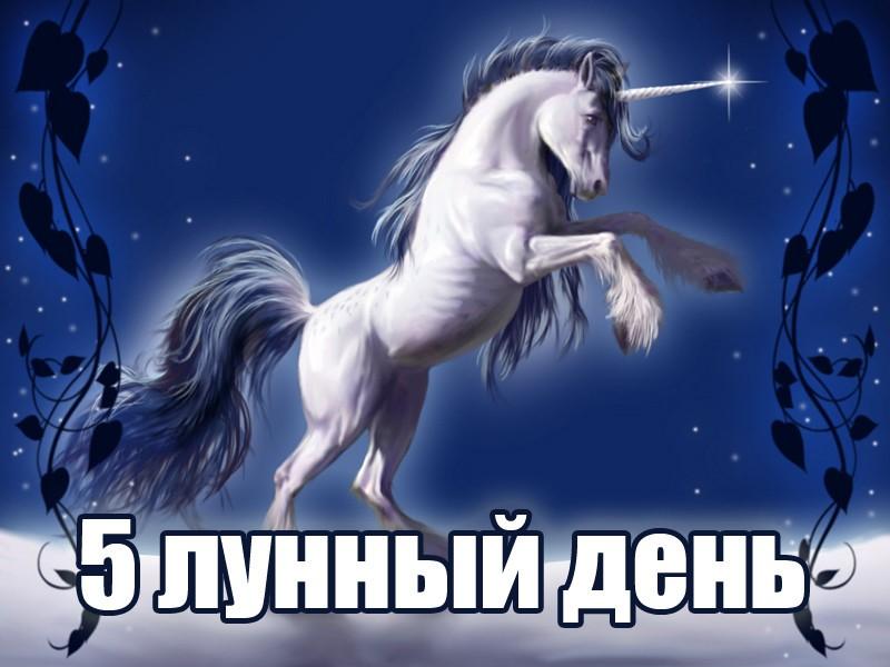 Единорог - 5 лунный день