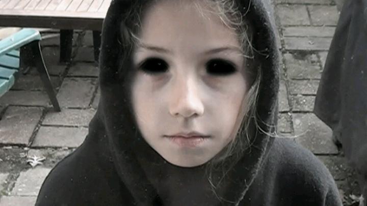 Страшные дети с чёрными глазами
