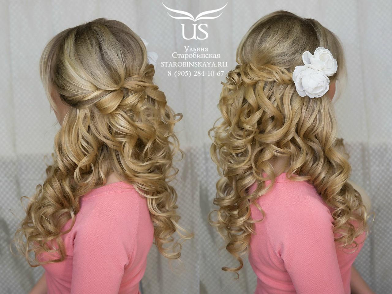 Красивые прически на средние волосы с плетением и с локонами