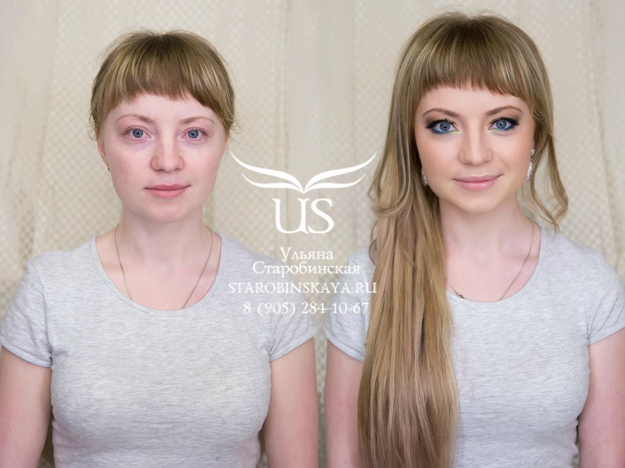 Макияжа для мелированных волос