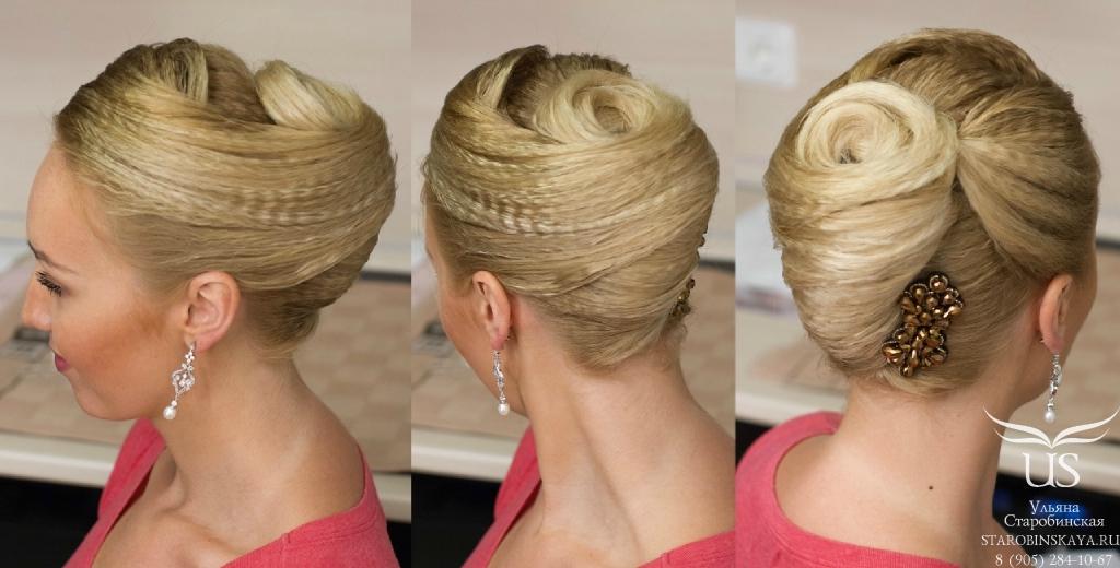 Прическа на средние волосы ракушка