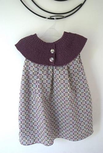 Кокетка на детское платье выкройка