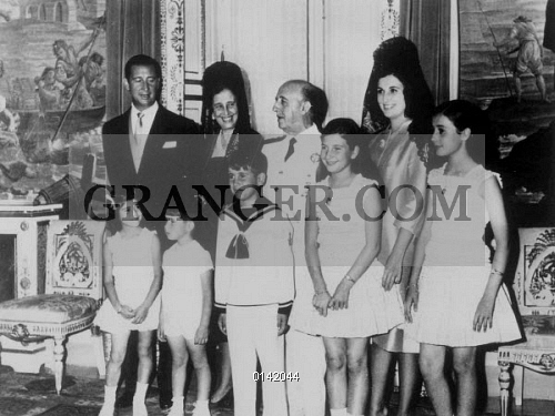 Francisco Franco with his family c 1967