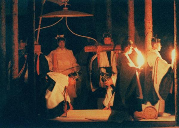 Emperor Akihito during Daijosai_22-11-1990