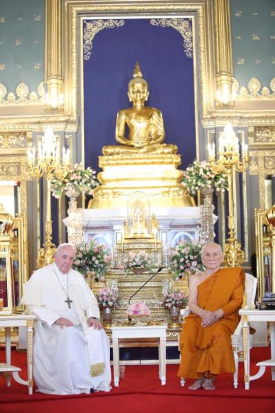 2019-11-22_Pope Francis and Supreme Patriarch Ariyavongsagatanana