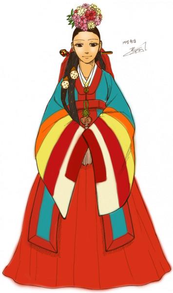bridal wear of Hanbok