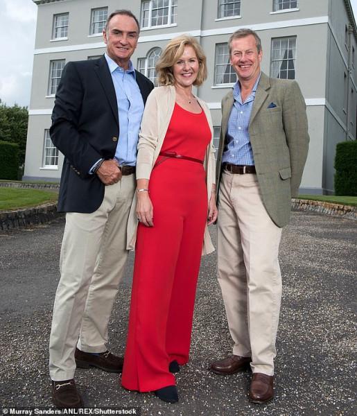 2018_пенни+ex-husband Lord Ivar (right)+his now husband James Coyle (left)