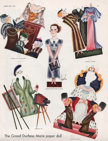 1934_Paper doll of GD Maria Pavlovna the Younger
